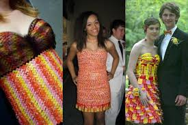 prom dresses made out of what totally stitchin
