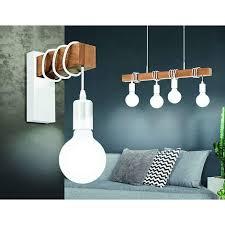 retro industrie wandleuchte vintage design wandleuchte holz deckenleuchte weiß e27 steckdose für wohnzimmer kinderzimmer schlafzimmer küche flur