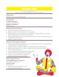 Fast Food Sample Resume Examples Cashier Free Template Restaurant Manager Server
