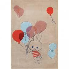 tapis chambre d enfant tapis chambre d enfant multicolore balloon rabbit