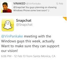 Snapchat Windows Phone