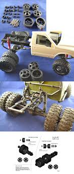 100 Rc Dually Truck Chassis Drivetrain And Wheels 182196 Axial Racing Scx10 Rims