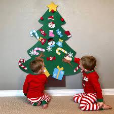 3D DIY Felt Christmas Tree Door Wall Hanging Decor Kids Xmas Gift 9570CM Merry