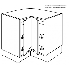 meuble d angle bas pour cuisine meuble d angle à 2 plateaux tournants à 90 degrée