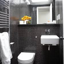hallway furniture ideas black and white mosaic floor tile black