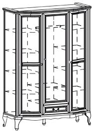 casa padrino luxus jugendstil schlafzimmerschrank dunkelbraun 147 8 x 63 5 x h 206 cm massivholz kleiderschrank mit 3 türen und schublade barock