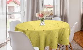 abakuhaus tischdecke kreis tischdecke abdeckung für esszimmer küche dekoration gelbe punkte groß oder klein spots kaufen otto