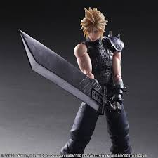 Sora Halloween Town Play Arts Kai by Final Fantasy Advent Children Cloud Strife With Fenrir Motocycle