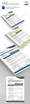 BrandSEO Creative Invoices PSD Templates Professional Invoice In 4 Different Colors Variations Includ