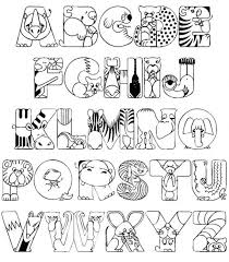 Abc Coloring Pages Alphabet Animal Printable Free Educations