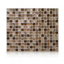 Smart Tiles Bellagio Mosaik by Peel And Stick Tile Backsplash Minimo Roca Smart Tiles