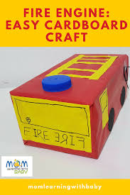 Fire Engine: Easy Cardboard Craft – Mom Learning With Baby 5 Feet Jointed Fire Truck W Ladder Cboard Cout Haing Fireman Amazoncom Melissa Doug 5511 Fire Truck Indoor Corrugate Toddler Preschool Boy Fireman Fire Truck Halloween Costume Cboard Reupcycling How To Turn A Box Into Firetruck A Day In The Life Birthday Party Fun To Make Powerfull At Home Remote Control Suck Uk Cat Play House Engine Amazoncouk Pet Supplies Costume Pinterest Trucks Box Engine Hey Duggee Rources Emilia Keriene My Version Of For My Son Only Took