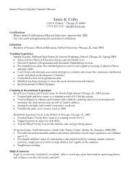 Pe Teacher Resume Examples For Physical Education Inspirational
