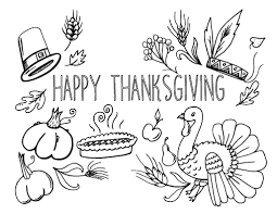 Printable Thanksgiving Coloring Page Free PDF Download At Coloringcafe