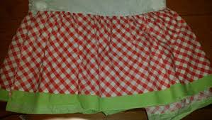 Red Gingham Bed Skirt Apple Green Trim Twin Size 13 5 Inch Drop