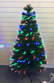 Christmas Tree 6ft Fibre Optic by 6ft Green Artificial Fibre Optic Christmas Xmas Tree With Multi