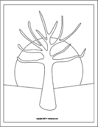 Tree With No Leaves Coloring Page