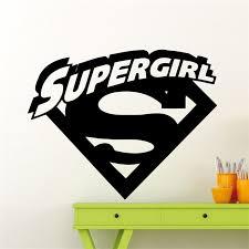 aliexpress com buy supergirl logo wall decal cartoons comics
