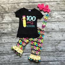 2017 kids girls boutique clothing girls 100 days of girls