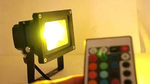 goldengadgets 10 watt rgb color changing led wall pack flood light