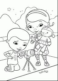 Incredible Doc Mcstuffins Coloring Pages With And Lambie