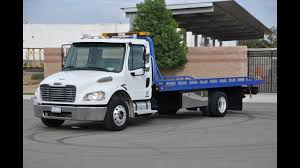 Freightliner M2 Century Rollback Flat Bed 2 Car Tow Truck With Wheel ...