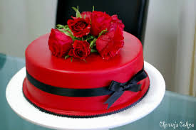 Birthday Cakes With Red Roses