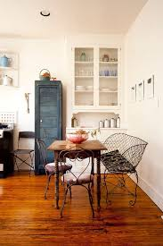 Shabby Chic Dining Room Table And Chairs by Old Painted Chairs And Table Give The Shabby Chic Dining Room