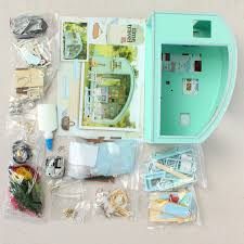 Amazoncom ROBOTIME DIY Miniature Dollhouse Kit Garden House With