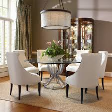 Century Omni Metal Base Dining Table And Upholstered Chair Set ... Trisha Yearwood Home Music City Hello Im Gone Ding Room Table Grey Griffin Cutback Upholstered Chair Along With Dark Wood Amazoncom Formal Luxurious 5pc Set Antique Silver Finish Tribeca Round And 2 Upholstered Side Chairs American Haddie Light Tone 4 Value Hooker Fniture Corsica Rectangle Pedestal Matisse With W Ladder Back By Paula Deen Vienna Merlot Kayla New