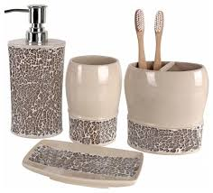 Broccostella 4 Piece Bath Accessory Set Contemporary Bathroom