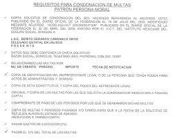 Acuerdo 1872003 Ejemplo Escrito IMSS Condonacion Del 90 De Multas