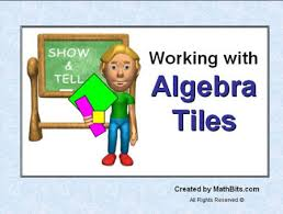 algebra tiles working with algebra tiles