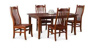 100 Cherry Table And 4 Chairs Easton Pike Leg With Side HOM Furniture