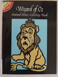 SALE Wizard Of Oz Stained Glass Coloring Book Denslow Inspired