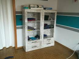 2 regale bücher aufbewahrung ordner wohnzimmer büro shabby vintag