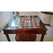 dining table glass top ceramic tiles royal ambience