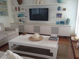 Cute Wall Mounted Decorative Shelves Ideas White Wood Floating Living Room Coffe Table