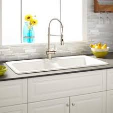 33 ignacio drop in granite composite sink eggshell white