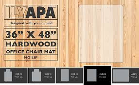 Hard Surface Office Chair Mat by Amazon Com Office Chair Mat For Hardwood Floors 36 X 48 Floor