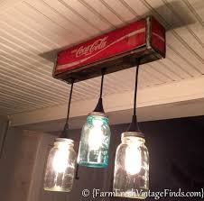 Coca Cola Mason Jar Light