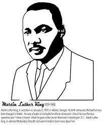 Martin Luther King Coloring Pages Printable 16 Jr And Worksheets