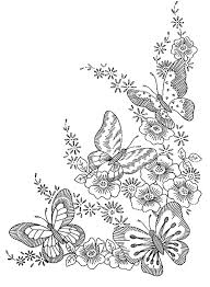 Butterflies And Flowers Coloring Pages Getcoloringpages Insects For Adults