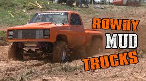 MUD TRUCKS RACING At THE FARM - YouTube