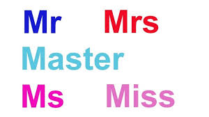 Mr Mrs Miss Ms Men Change From Master To Women Must Show Their Marital Status