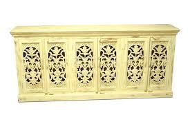 sideboard avani handgeschnitzte front antik weiß india