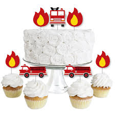 100 Fire Truck Cupcake Toppers D Up Dessert Fighter