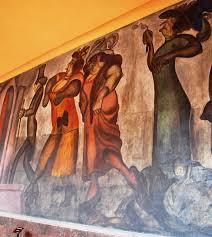 sección mural titulado los franciscanos uno de dos de josé