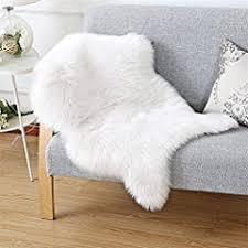 bedee faux lammfell teppich shaggy kunstfell schaffell 150cm