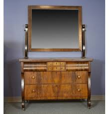 Babi Italia Dressing Table by Antique Empire Style Walnut Dresser With Mirror Ebth